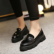 Women's Loafers & Slip-Ons Fall Comfort Leatherette Outdoor Flat Heel Others Black / Red Others