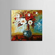 Hand-Painted Abstract Modern Thick Flower Oil Painting On Canvas living room Restaurant Decor With Frame Ready To Hang