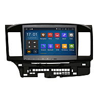 android 5.1.1 2 din 10.2'quad core 1024 * 600 auton gps stereo radio Mitsubishi Lancer ex wifi bluetooth peili linkki