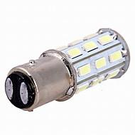 10PCS 1157-27smd-5630 전구 램프 역 램프 / 후미등 / 브레이크 등 흰색 DC12V