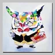 dipinti ad olio animale gufo dipinte a mano su tela di canapa moderna arte della parete, con telaio allungato pronto da appendere