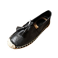 Men's Flats Spring PU Casual Flat Heel Black Brown White Other