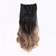 Připínací syntetický Prodloužení vlasů 130 Prodlužování vlasů