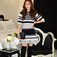 DABUWAWA Women's Solid / Striped Skirts,Cute / Street chic / Sophisticated Above Knee