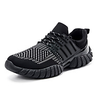 Men's Sneakers Spring / Fall Round Toe / Flats Fabric Athletic / Casual Flat Heel Others / Lace-upYellow / Black an
