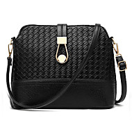 Women PU Casual Shopping Solid Color Weave Shell Package Shoulder Key Holder  Cosmetic Bag Mobile Phone Bag