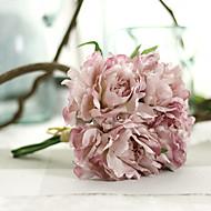 1 1 Větev Polyester Pivoňky Květina na stůl Umělé květiny 27cm