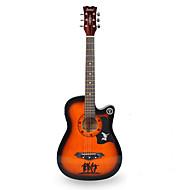 Beginner 38 Inch Brown Wood Guitar