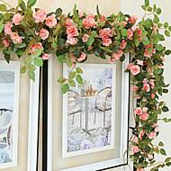 1 Gren Silke Roser Veggblomst Kunstige blomster 170CM