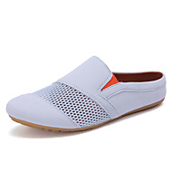 Men's Loafers & Slip-Ons Summer Comfort Tulle Fabric Casual Flat Heel Others Blue Gray Walking