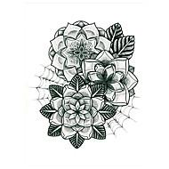 5 Tatuajes Adhesivos Series de Flor Non Toxic / Modelo / Parte Lumbar / WaterproofMujer / Hombre / Adulto flash de tatuajeLos tatuajes