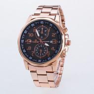 Men's Rose Gold Strip Two Six-Pin Single Calendar Quartz Watch