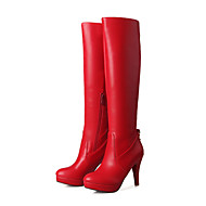 Women's Boots Spring / Fall / Winter Platform / Fashion Boots Leatherette Party & Evening / Casual Stiletto Heel Crystal