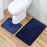 ležérní styl polyester koupelové koberečky sada (2 kusy)