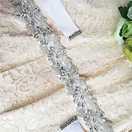 Satin Wedding / Party/ Evening / Dailywear Sash - Sequins / Beading / Appliques / Pearls / Rhinestone Women's Sashes
