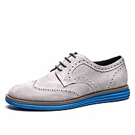 Brand italy shoes man Flats Shoes 2016 Fashion Nubuck Leather anti slip business oxford shoes