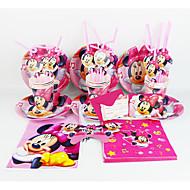Minnie Mouse 92pcs narozeniny ozdoby dětský evnent zásoby strany party dekorace 12 lidí používá