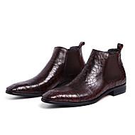Herre-Lær-Flat hæl-Komfort-Støvler-Fritid-