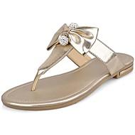 Women's Slippers & Flip-Flops Spring/Summer/Fall Flip Flops Synthetic Dress / Casual Platform Flower Black /Gold