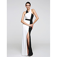 TS Couture® Formal Evening Dress Sheath / Column Halter Floor-length Chiffon with Split Front