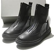 Støvler-LæderHerre-Sort-Fritid-Flad hæl