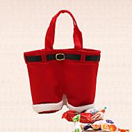1kpl joulu joulupukki pant suspender karamelli laukku koriste loma juhlat lahja