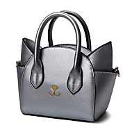 Women PU Cartoon Cat Personalized Handbag Casual Shopping Shoulder Tote Cosmetic Mobile Phone Bag
