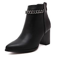נעלי נשים-נעליים ללא שרוכים-דמוי עור-עקבים / חדשני / גלדיאטור / בלרינה בייסיק / מגפי אופנה-שחור-חתונה / שמלה / מסיבה וערב-עקב עבה
