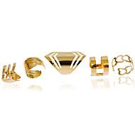 Ringen Modieus Bruiloft / Feest / Dagelijks / Causaal Sieraden Legering Dames Midiringen / Bandringen 1 Set,Verstelbaar Gouden