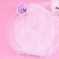 Women's Tulle / Net Headpiece-Wedding / Special Occasion Fascinators 1 Piece Clear Round 24cm