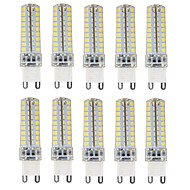 10PCS G9 72LED SMD2835 6W 450-500LM Warm White/Cool White/Natural White Dimmable/Decorative AC110V/220V LED Corn Lights
