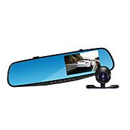 Jian Yang JX78 1080P HD Dual Lens 4.3 inch rearview mirror and recorder car camera parking system