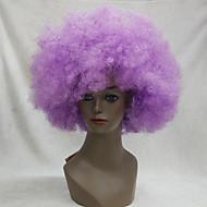 Γυναικείο Άνδρες Συνθετικές Περούκες Χωρίς κάλυμμα Kinky Curly Άφρο Βυσσινί Περούκα άνιμε Απόκριες Περούκα Καρναβάλι περούκα φορεσιά