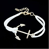 Chain Bracelets 1pc,Coffee / Black / White / Red / Blue / Orange Bracelet Personality Anchor Alloy / Leather Jewellery