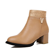 Women's Boots Spring / Fall / Winter Heels / Fashion Boots Leatherette   Casual Chunky Heel OthersBlack / Brown