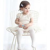 Baby Leggings-Lässig/Alltäglich einfarbig,Baumwolle,Frühling,Weiß