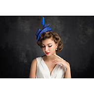 Women's Feather / Flax / Net Headpiece-Special Occasion Fascinators 1 Piece Clear Irregular 25
