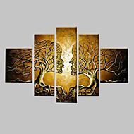 Ζωγραφισμένα στο χέρι Φαντασία Οποιοδήποτε σχήμα,Κλασσικά Πεντάπτυχα Καραβόπανο Hang-ζωγραφισμένα ελαιογραφία For Αρχική Διακόσμηση