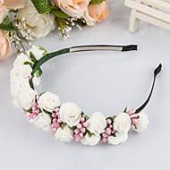 成人用 フォーム かぶと-結婚式 ティアラ 1個 グリーン / ピンク / フクシア 花型 50cm