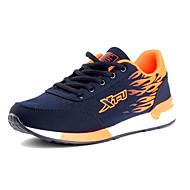 Sneakers-Tyl-Komfort-Dame-Sort Blå-Fritid-Flad hæl
