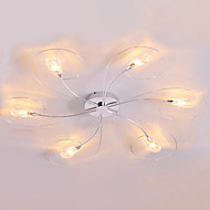 Max 10W Modern/Contemporary Mini Style Electroplated Flush Mount Living Room / Bedroom / Dining Room