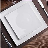 čistě bílá bezolovnaté kostní porcelán čtvercová deska
