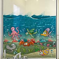 Window Film Window Decals Style Underwater World Matte PVC Window Film - (60 x 58)cm
