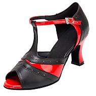 Chaussures de danse(Autre) -Personnalisables-Talon Personnalisé-Similicuir-Latine / Salsa