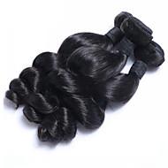 """3pcs / lot 8 """"-26"""" surowy malezyjski dziewiczy włosy naturalny czarny luźna fala ludzki włosy tkactwo niska cena gorąca sprzedaż"""