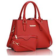 Women Shoulder Bag PU Casual Outdoor Black Dark Blue Ruby