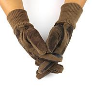 Cycling Gloves / Ski Gloves / Touch Gloves Winter Gloves Unisex Keep Warm Ski & Snowboard Black / Brown Canvas Free Size