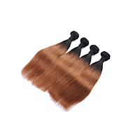 "4pcs/lot 10""-28""Ombre Brazilian Human Hair Weave Bundles 1B/30 Two Tone Ombre Brazilian Virgin Hair Extensions"