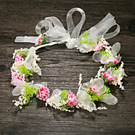 נשים בד כיסוי ראש-חתונה זרי פרחים חלק 1 כחול / ירוק / ורוד / לבן פרח 52cm