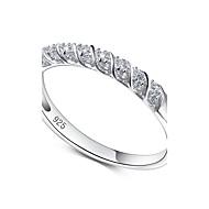 Anéis Zircônia cúbica Fashion Halloween / Casamento / Pesta / Diário / Casual Jóias Prata de Lei / Zircônia Cubica Feminino Anéis Grossos